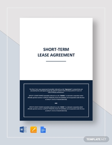 landlord and tenant short term lease agreement