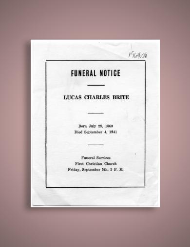 lucas brite funeral notice