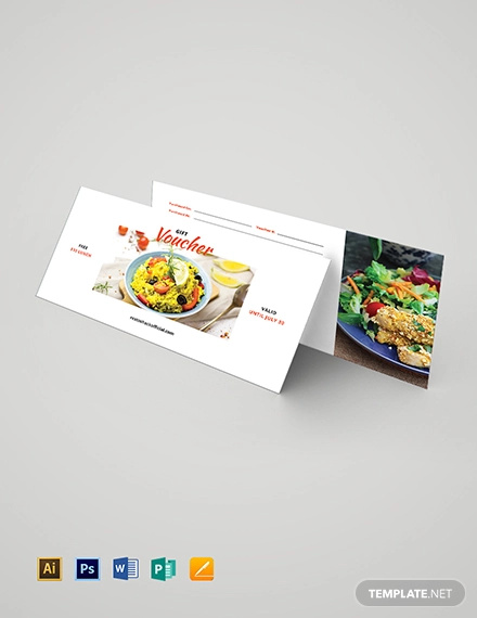 lunch gift voucher template