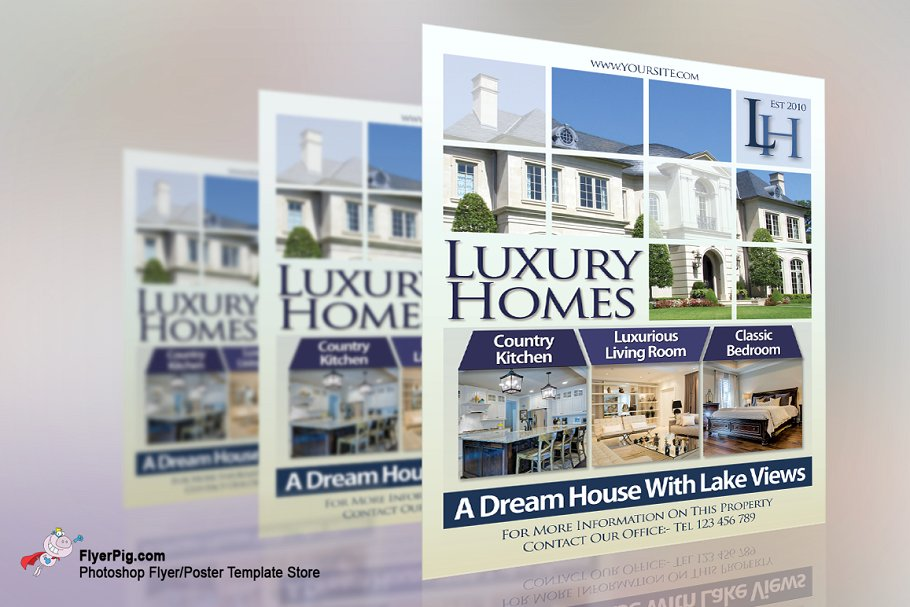 luxury home real estate flyer example