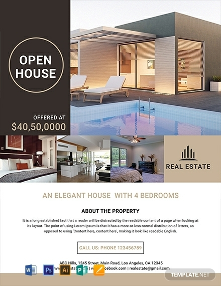 luxury home residential real estate flyer template