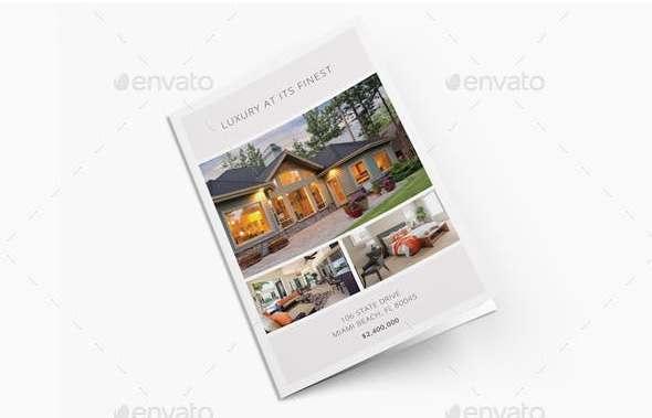 luxury real estate bi fold brochure