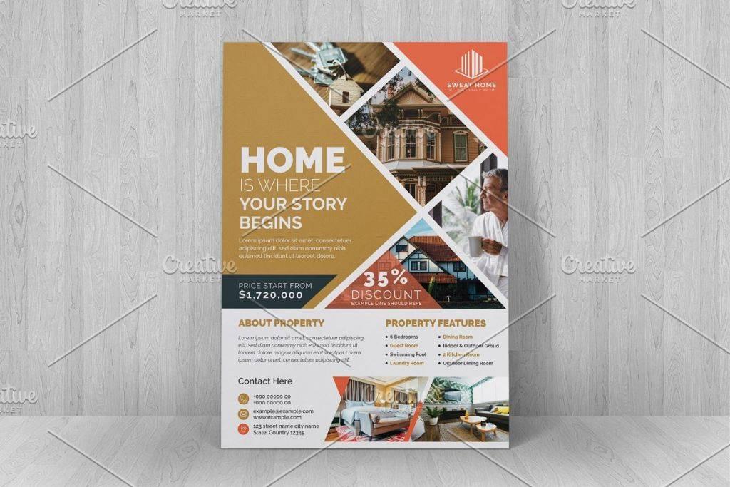 luxury real estate flyer 1024x683