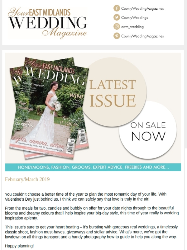 magazine wedding email newsletter1