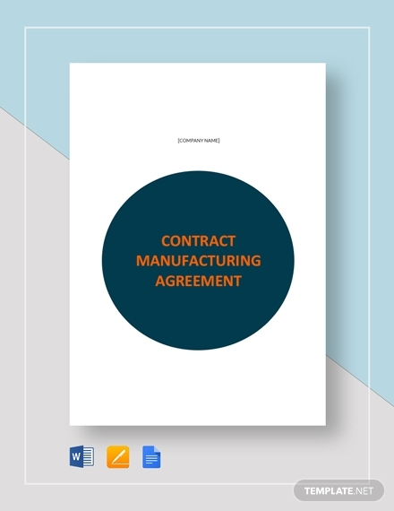 manufacturing real estate contract template