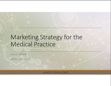 marketing plan for the medical practice