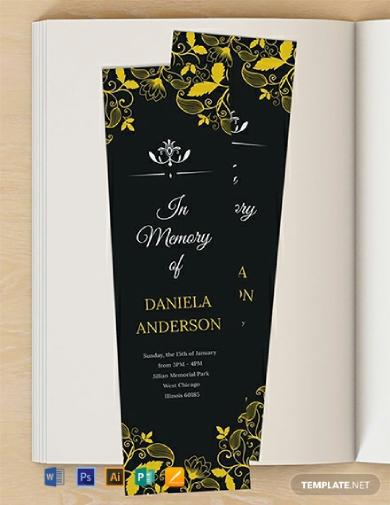 memorial bookmark