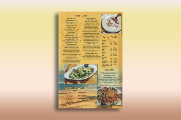 mexican appetizer menu