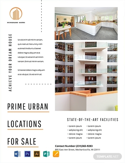 minimal real estate farming flyer template