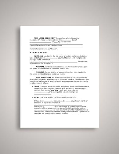 missouri tenant lease agreement