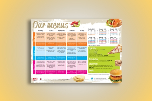 monthly school menu