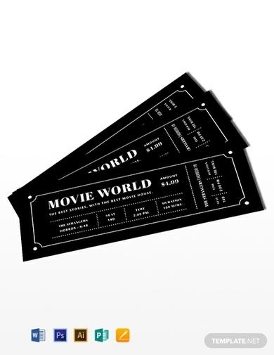 movie night ticket invitation