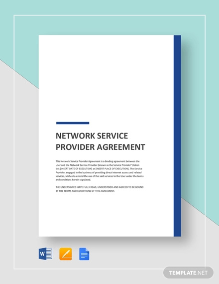 network services provider agreement template