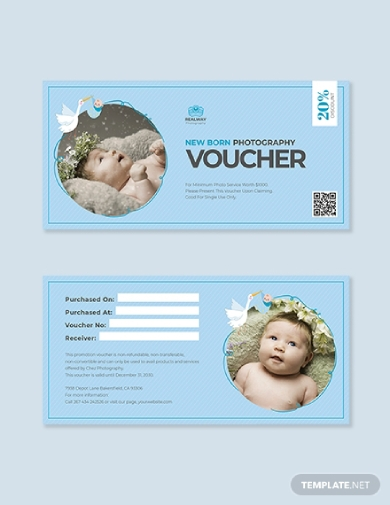 newborn baby photography voucher