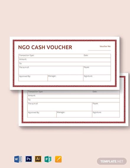 ngo cash voucher template