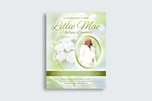 obituary card cover
