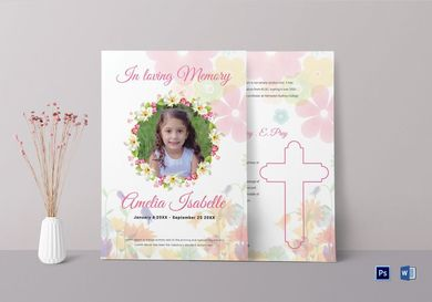 obituary funeral card for kids