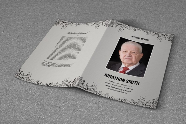 obituary and funeral program brochure
