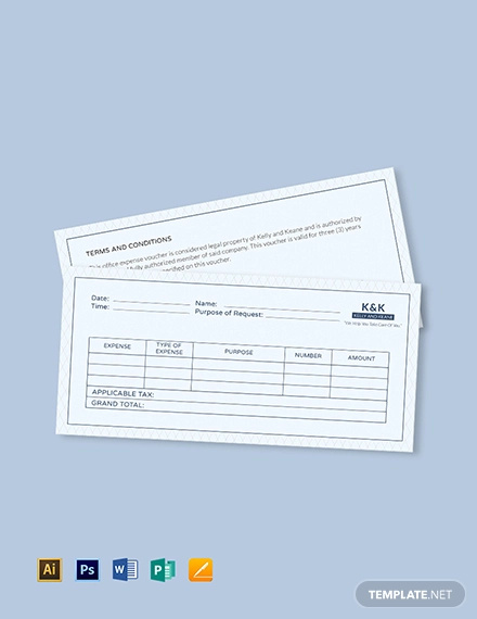 office expense voucher template