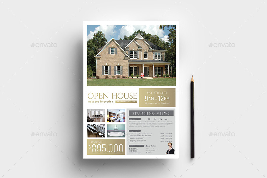 open house poster template