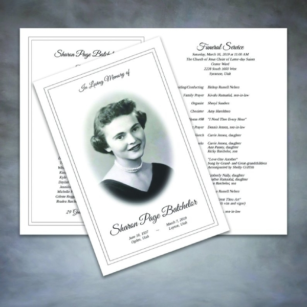 order of service and obituary brochure