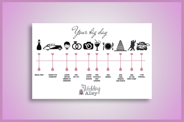 organized wedding timeline