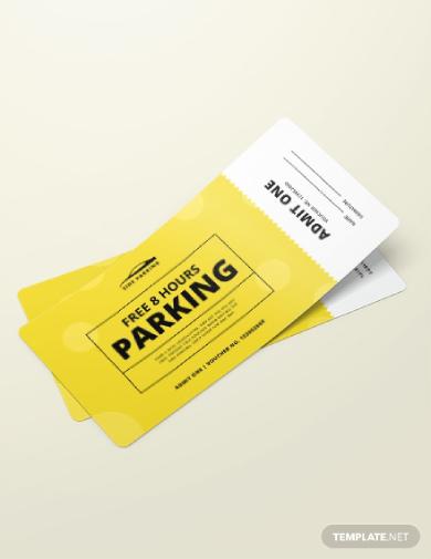 parking ticket voucher
