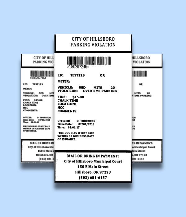 parking violation ticket