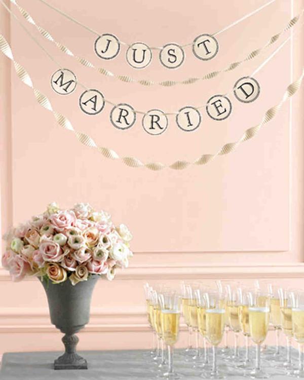 pastel wedding banner