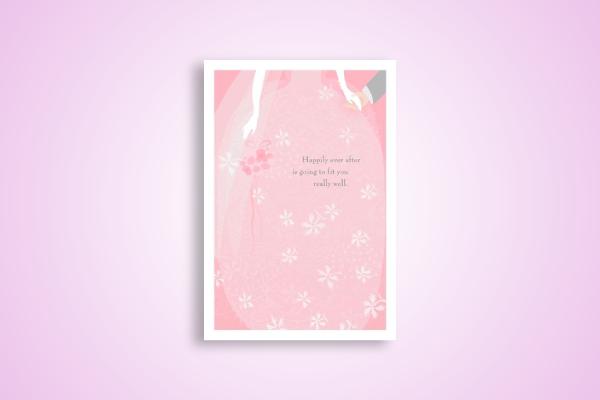 pastel wedding congratulations card