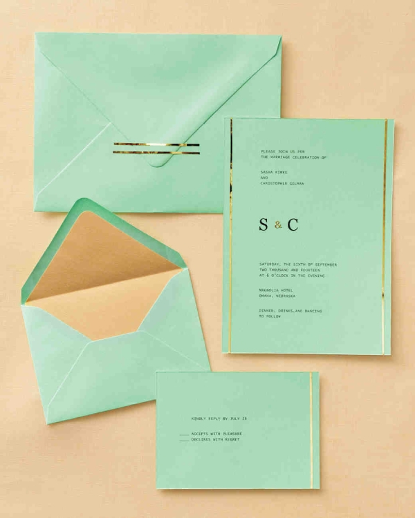 pastel wedding invitation card