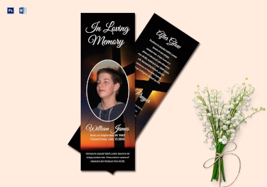 personalized funeral bookmark2