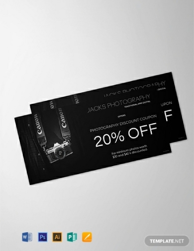 photography discount gift voucher