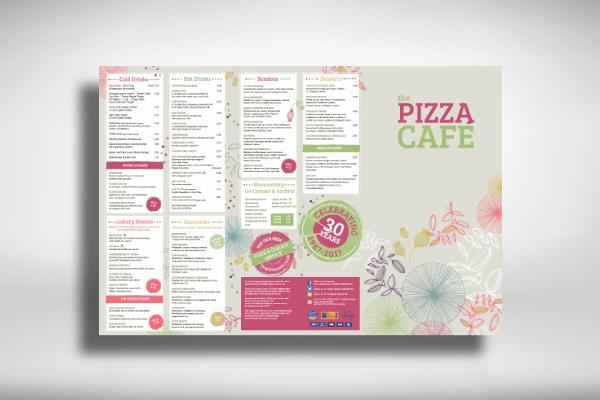 pizza cafe restaurant menu
