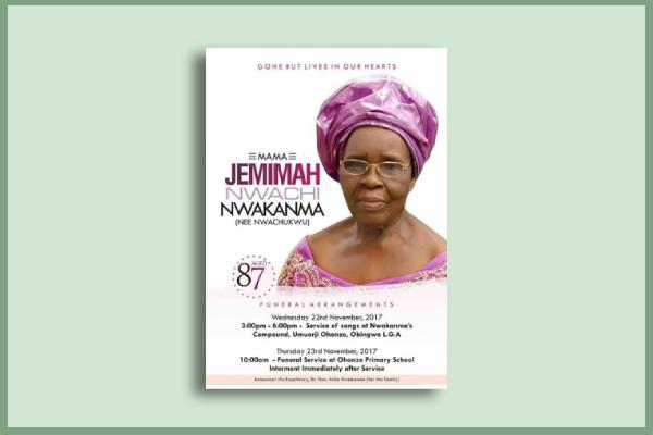politician funeral flyer