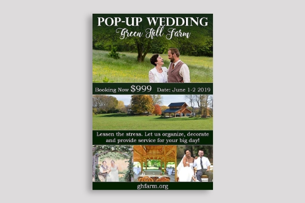 pop up wedding poster