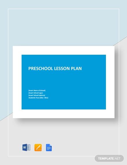 preschool lesson plan1