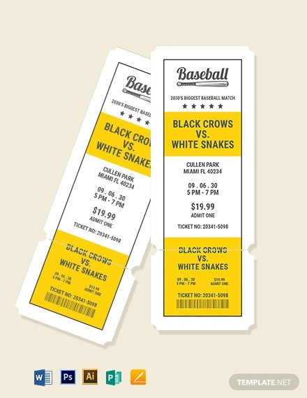 printable baseball ticket template