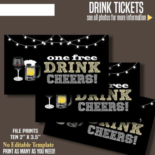 printable free drink ticket