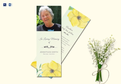 printable funeral bookmark