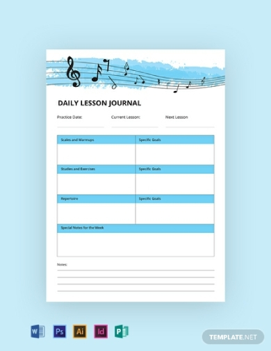 printable music journal