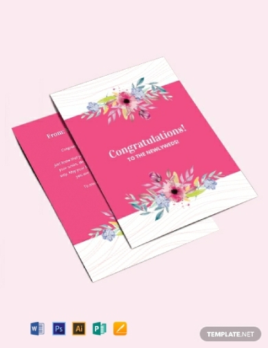 printable wedding congratulations greeting card