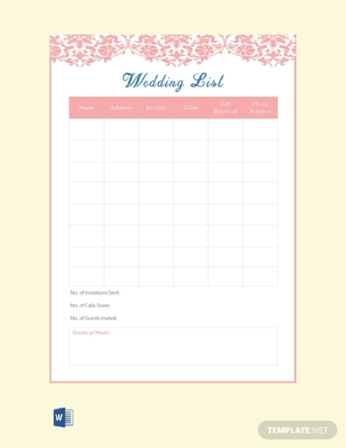 It's just an image of Printable Wedding Guest Lists throughout editable