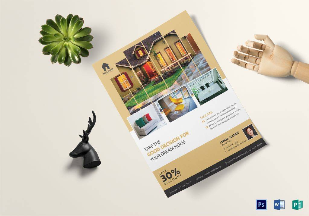 professional luxury real estate marketing flyer 1024x717