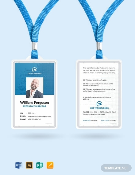 professional real estate agency id card