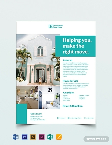 professional real estate marketing flyer