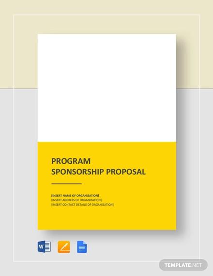 FREE 47+ Sponsorship Proposal Examples & Samples - PDF