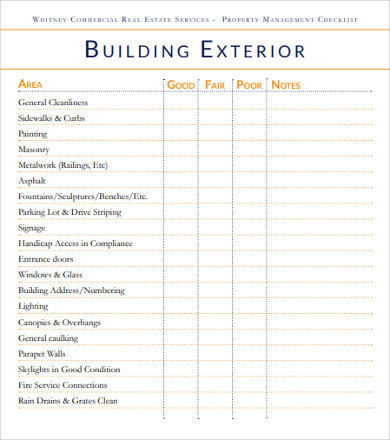 Free 11 Property Management Checklist Examples Templates Download Now Examples