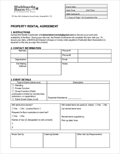 Free 7 Property Rental Agreement Examples Templates