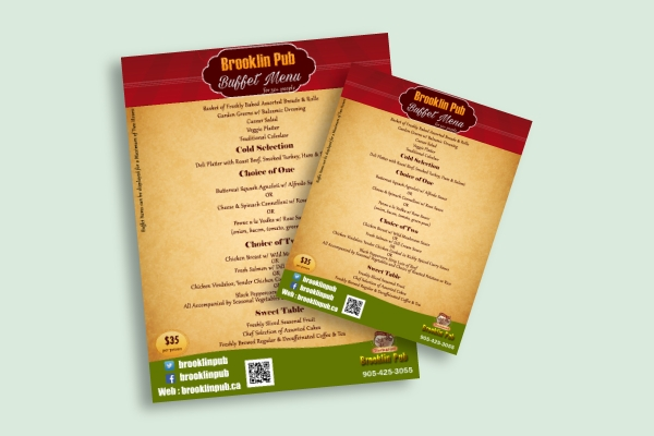 pub buffet menu1